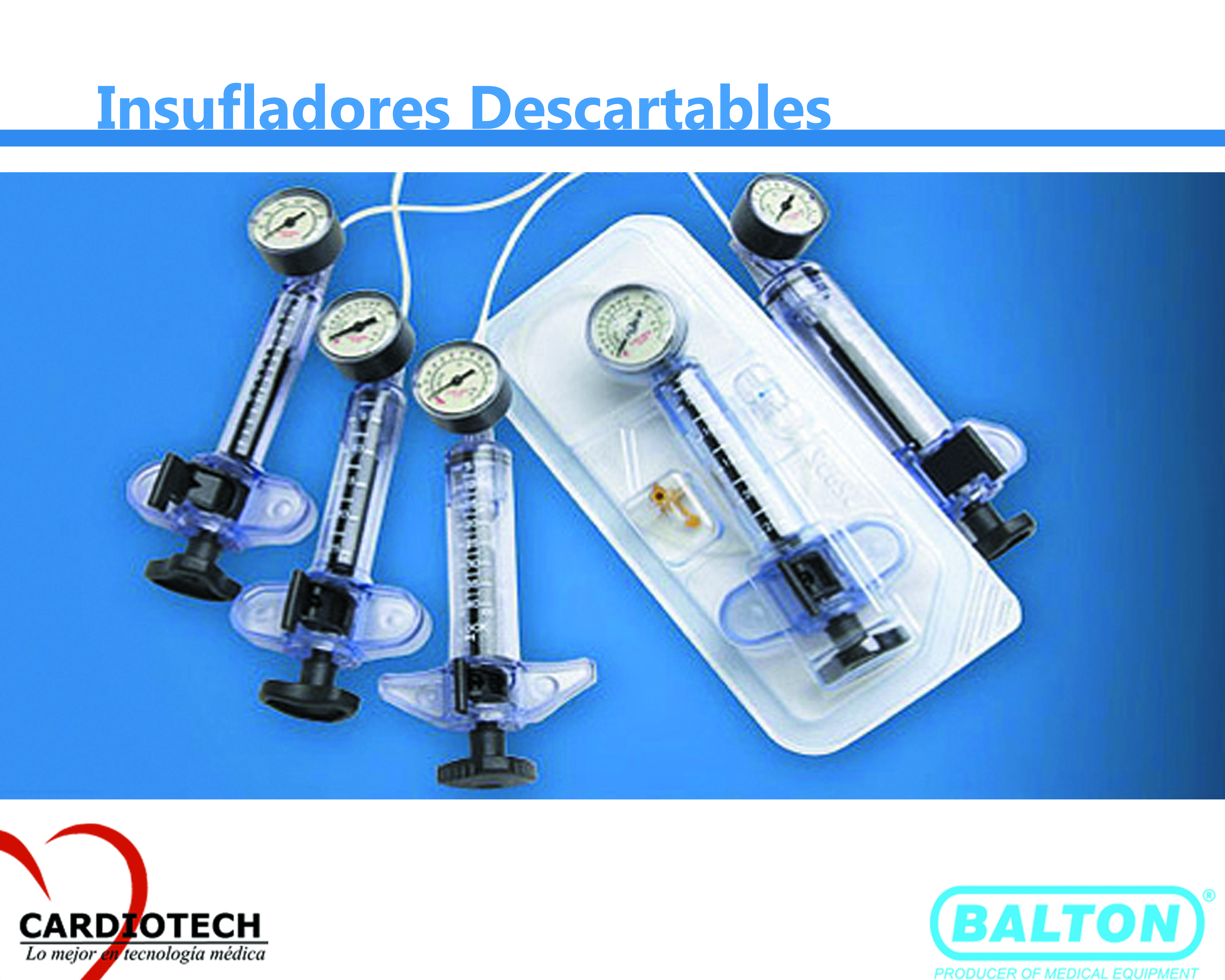 dispositivos de inflado desechables
